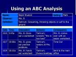 using an abc analysis