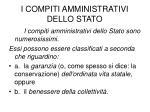 i compiti amministrativi dello stato