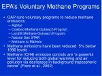 epa s voluntary methane programs