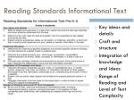 reading standards informational text