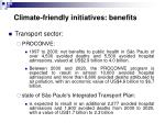 climate friendly initiatives benefits