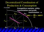 decentralized coordination of production consumption13