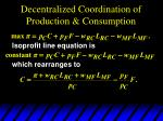 decentralized coordination of production consumption3
