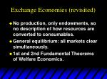 exchange economies revisited