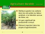agriculture durable second volet