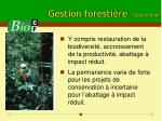 gestion foresti re second volet
