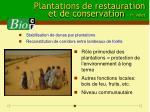 plantations de restauration et de conservation 1 er volet