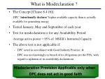 what is misdeclaration