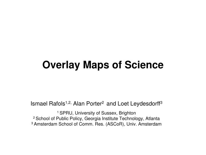 overlay maps of science n.
