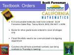 textbook orders