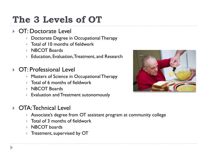 occupational science and occupational therapy The division of occupational science and occupational therapy in the department of allied health sciences offers two graduate programs: a master of science (ms) degree with a major in occupational therapy and a doctor of philosophy (phd) degree in occupational science.