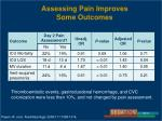 assessing pain improves some outcomes