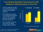 correlating sedation assessment with sedative administration in the icu