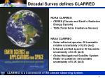 decadal survey defines clarreo