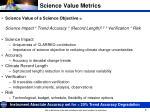 science value metrics