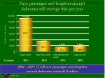 new passenger and freighter aircraft deliveries will average 866 per year