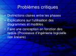 probl mes critiques