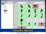 classifier neumes
