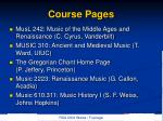 course pages