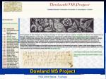 dowland ms project