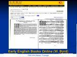 early english books online w byrd