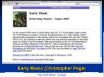 early music christopher page