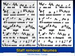 staff removal neumes