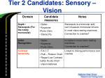 tier 2 candidates sensory vision1