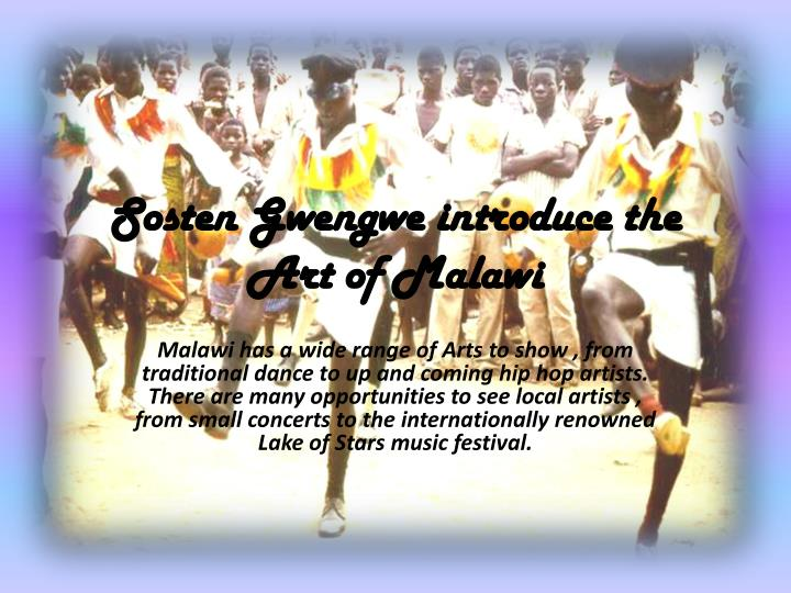 sosten gwengwe introduce the art of malawi n.
