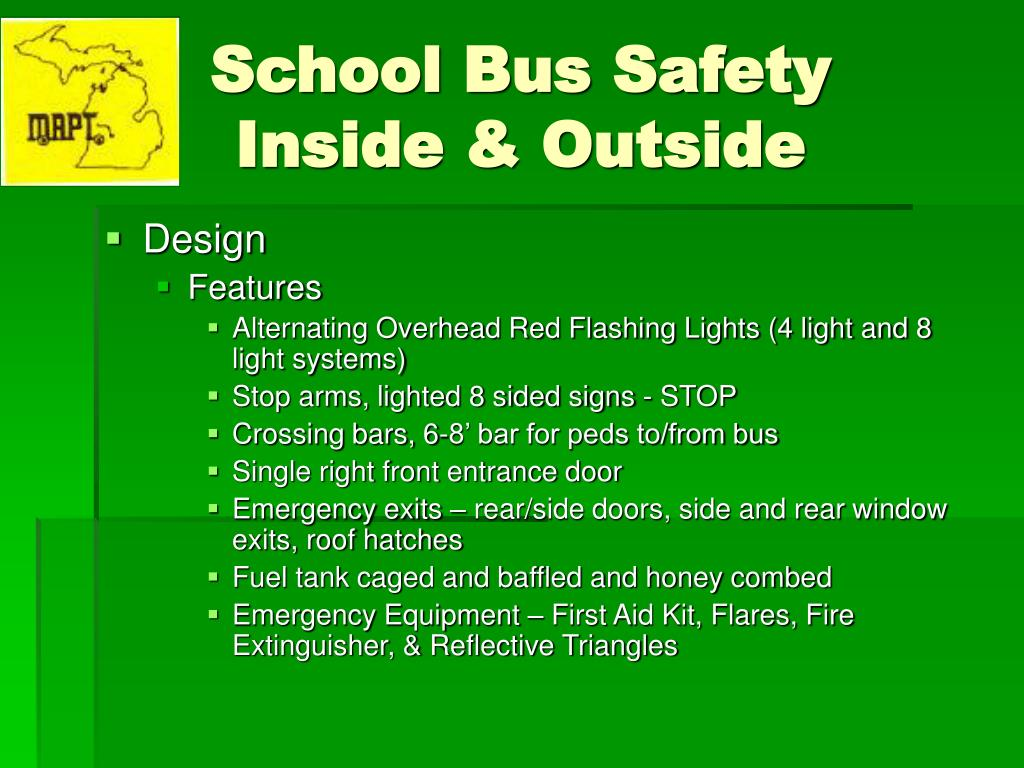 PPT - School Bus Safety Inside & Outside PowerPoint