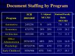 document staffing by program