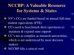 nccbp a valuable resource for systems states
