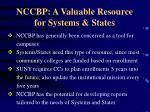 nccbp a valuable resource for systems states1