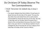 do christians of today observe the ten commandments2