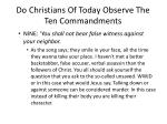 do christians of today observe the ten commandments5