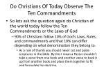 do christians of today observe the ten commandments7