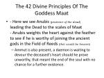 the 42 divine principles of the goddess maat6
