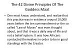 the 42 divine principles of the goddess maat9