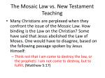 the mosaic law vs new testament teaching7