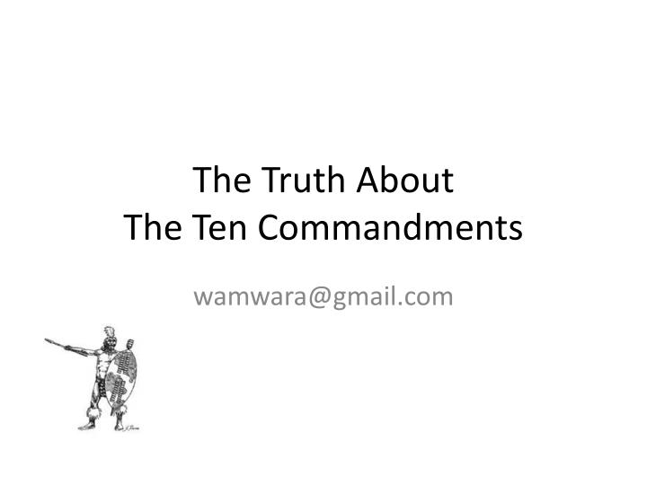 the truth about the ten commandments n.