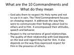what are the 10 commandments and what do they mean8
