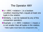 the operator any