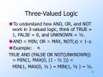 three valued logic