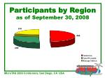 participants by region as of september 30 2008