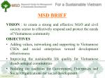 msd brief