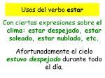 usos del verbo estar2
