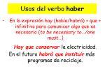 usos del verbo haber2
