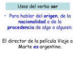 usos del verbo ser1