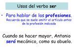 usos del verbo ser3