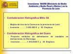 inversiones marm ministerio de medio ambiente y medio rural y marino en la provincia de le n